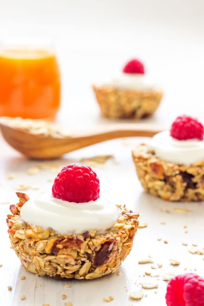 Healthy Breakfast Baked Goods  Heavenly Healthy Breakfast Oatmeal Cups Happy Foods Tube