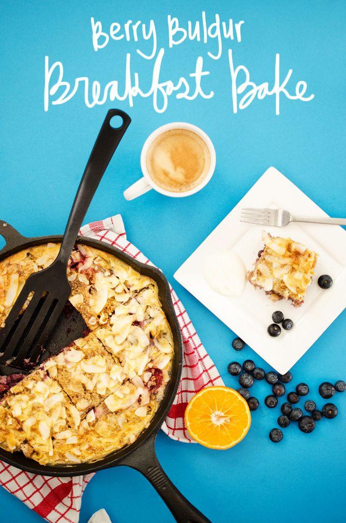 Healthy Breakfast Baked Goods  Good & Healthy Breakfasts Berry Bulgur Breakfast Bake