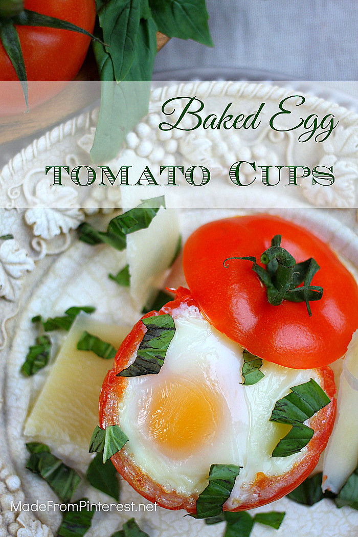 Healthy Breakfast Baked Goods  Baked Egg Tomato Cups It All Started With Paint