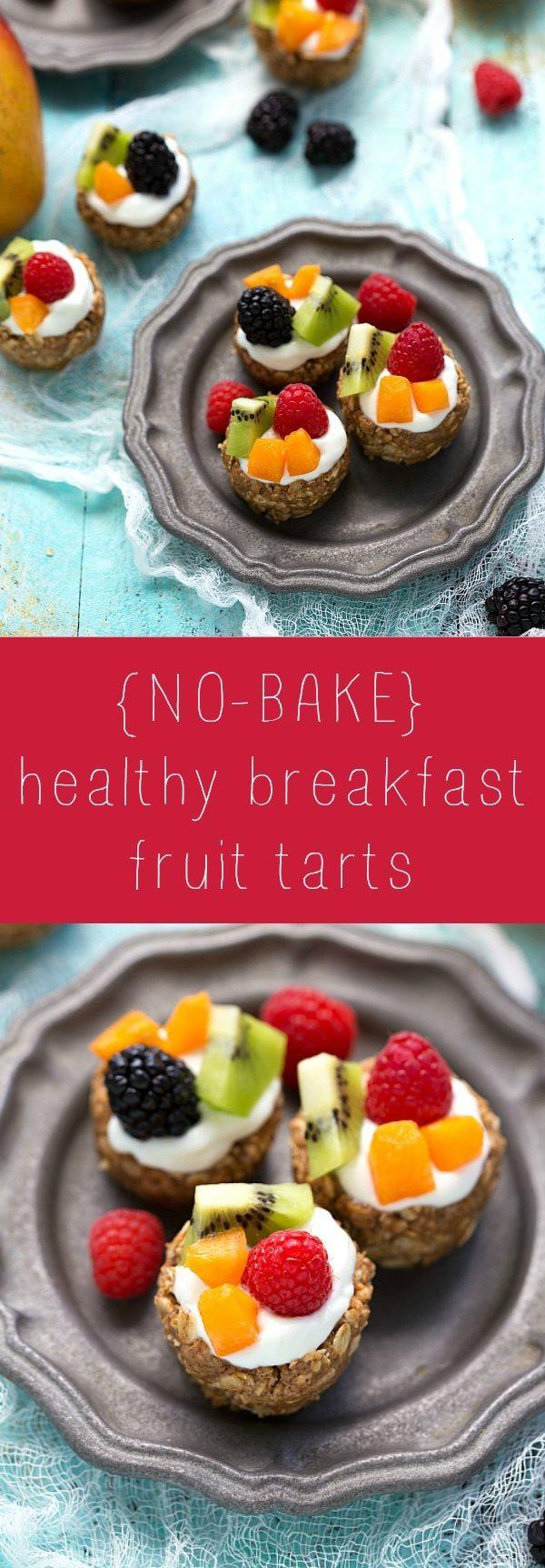Healthy Breakfast Baked Goods  No Bake Healthy Breakfast Fruit Tarts Chelsea s Messy