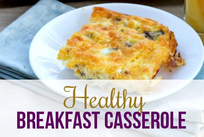 Healthy Breakfast Bakes  Healthy Breakfast Casserole with Eggs I Heart Planners