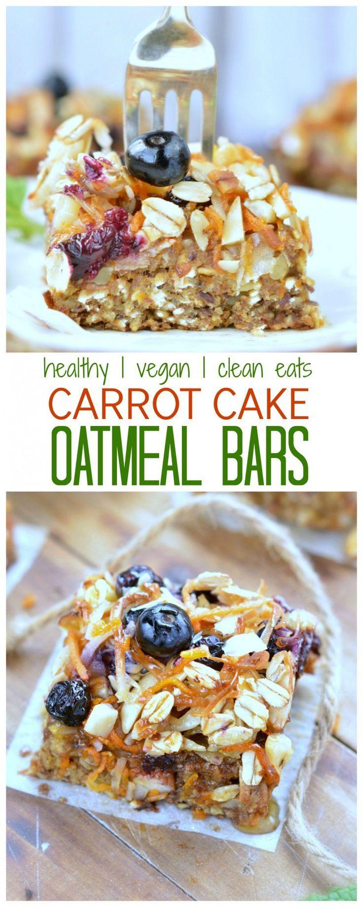 Healthy Breakfast Baking Recipes  Carrot Cake Baked Oatmeal Bars