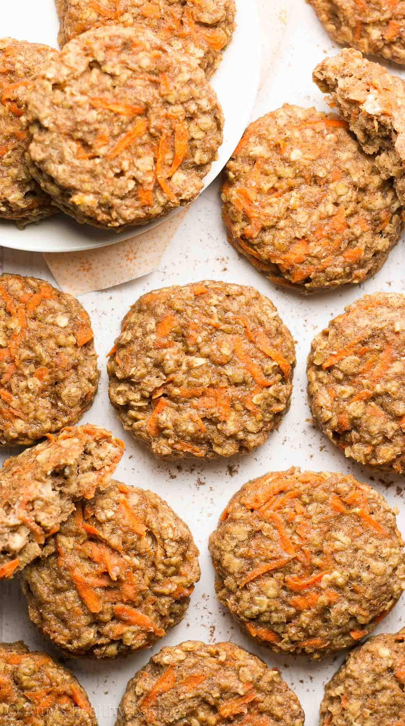 Healthy Breakfast Baking Recipes  Healthy Carrot Cake Oatmeal Breakfast Cookies