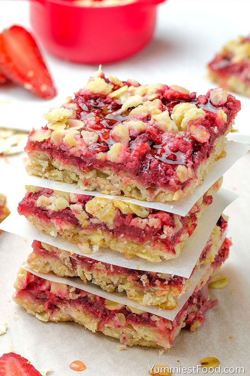 Healthy Breakfast Bars  Healthy Breakfast Strawberry Oatmeal Bars Recipe from