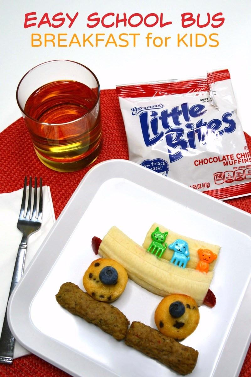Healthy Breakfast Before School  A Kids Bus Themed Before School Breakfast