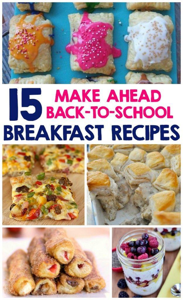 Healthy Breakfast Before School  15 Make Ahead Back To School Breakfast Recipes