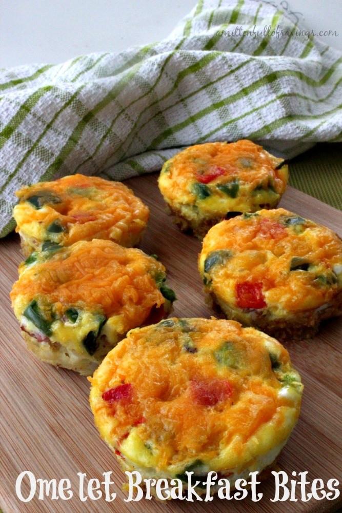 Healthy Breakfast Bites the Best Ideas for Easy to Make Breakfast Recipes Omelet Breakfast Bites