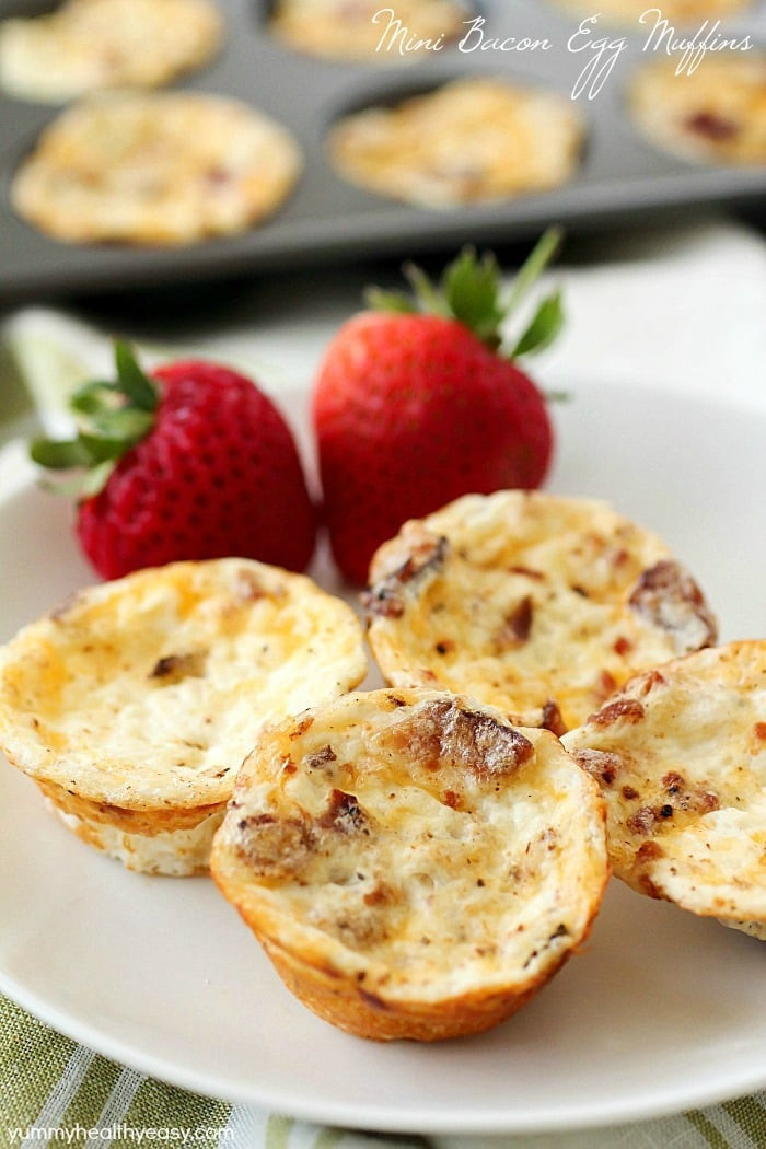 Healthy Breakfast Bites  Healthy Mini Bacon Egg Muffins Yummy Healthy Easy