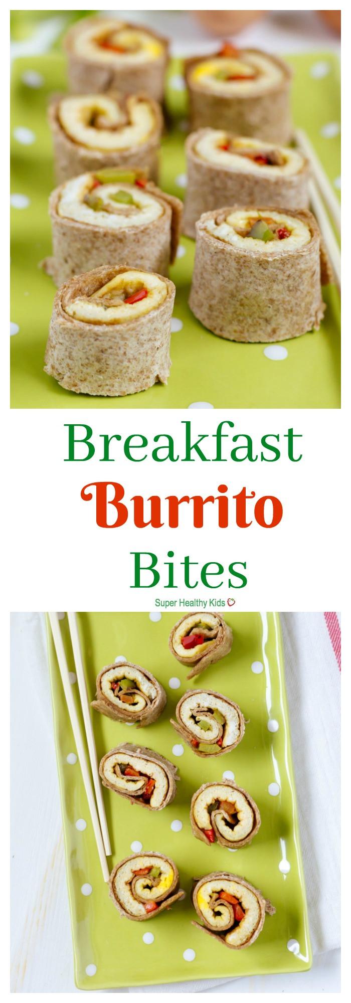 Healthy Breakfast Bites  Breakfast Burrito Bites