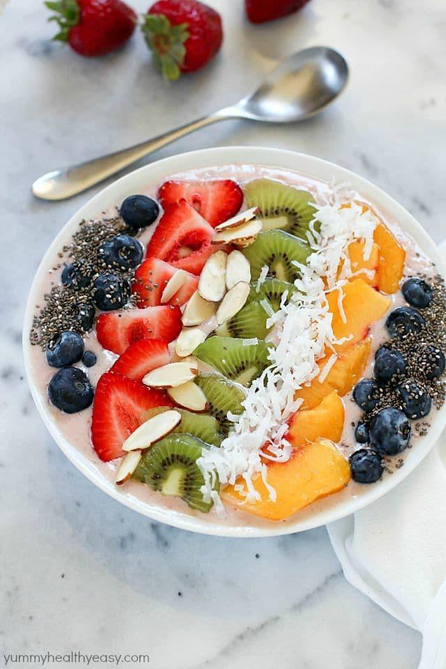 Healthy Breakfast Bowl Recipe  Tropical Smoothie Bowl Recipe Yummy Healthy Easy