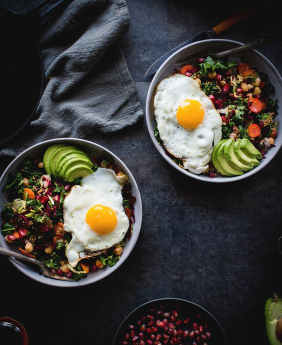 Healthy Breakfast Bowls With Eggs  Inviting looks delicious Tip substitute soy sauce with