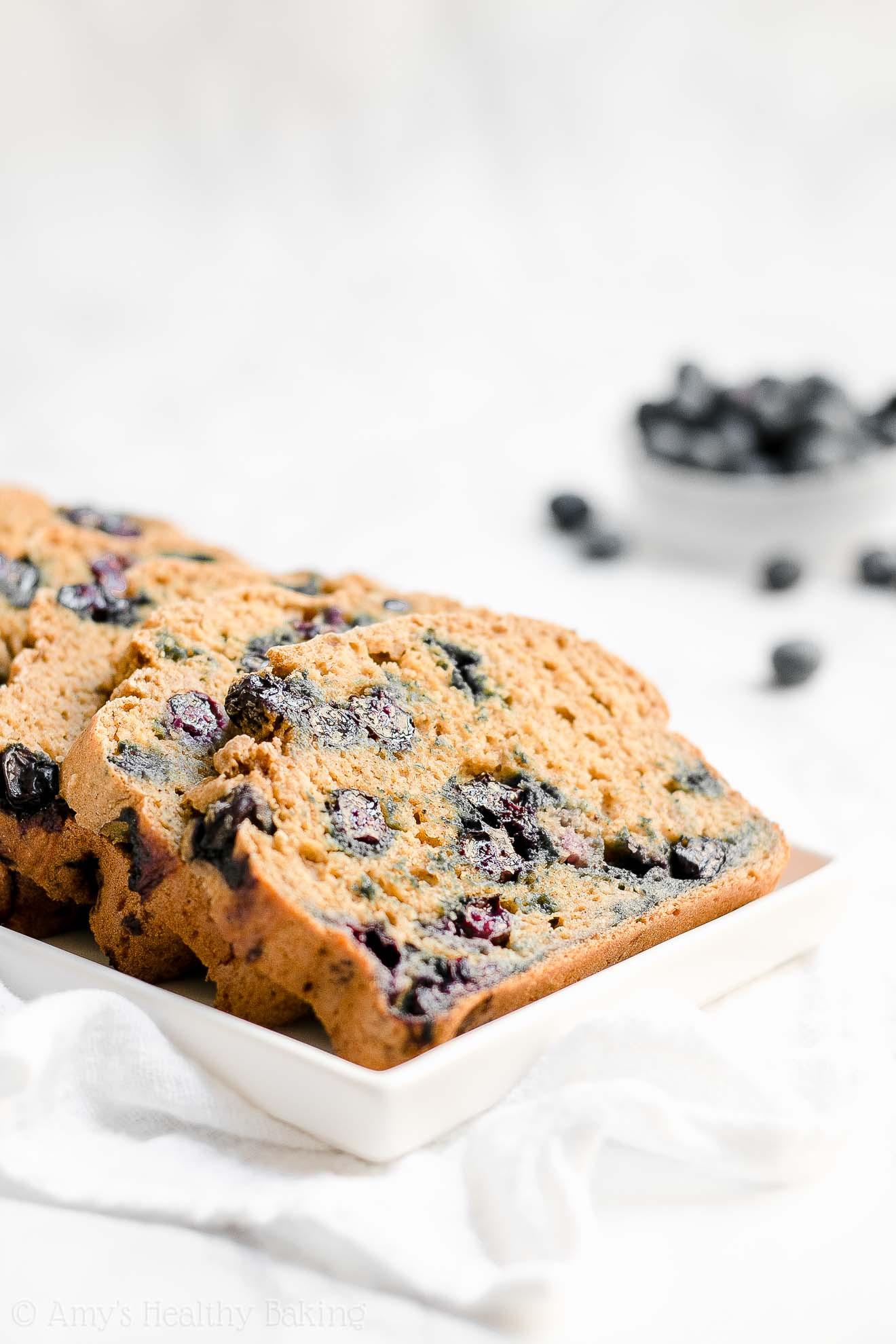 Healthy Breakfast Bread  Healthy Blueberry Oatmeal Breakfast Quick Bread