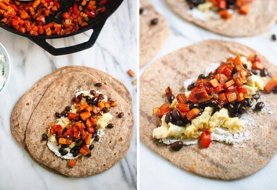 Healthy Breakfast Burrito  Healthy Freezer Breakfast Burritos Cookie and Kate