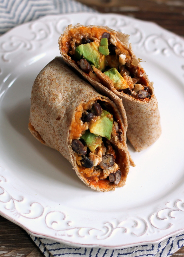Healthy Breakfast Burrito  Healthy Sweet Potato & Black Bean Breakfast Burritos