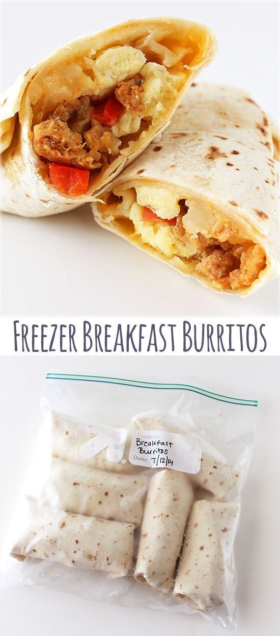 Healthy Breakfast Burrito Freezer  Freezer Breakfast Burritos