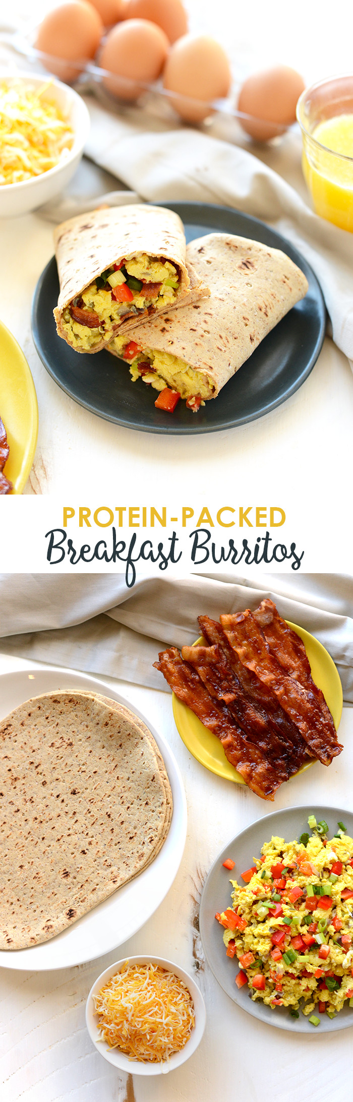 Healthy Breakfast Burrito Meal Prep  Protein Packed Breakfast Burritos Fit Foo Finds