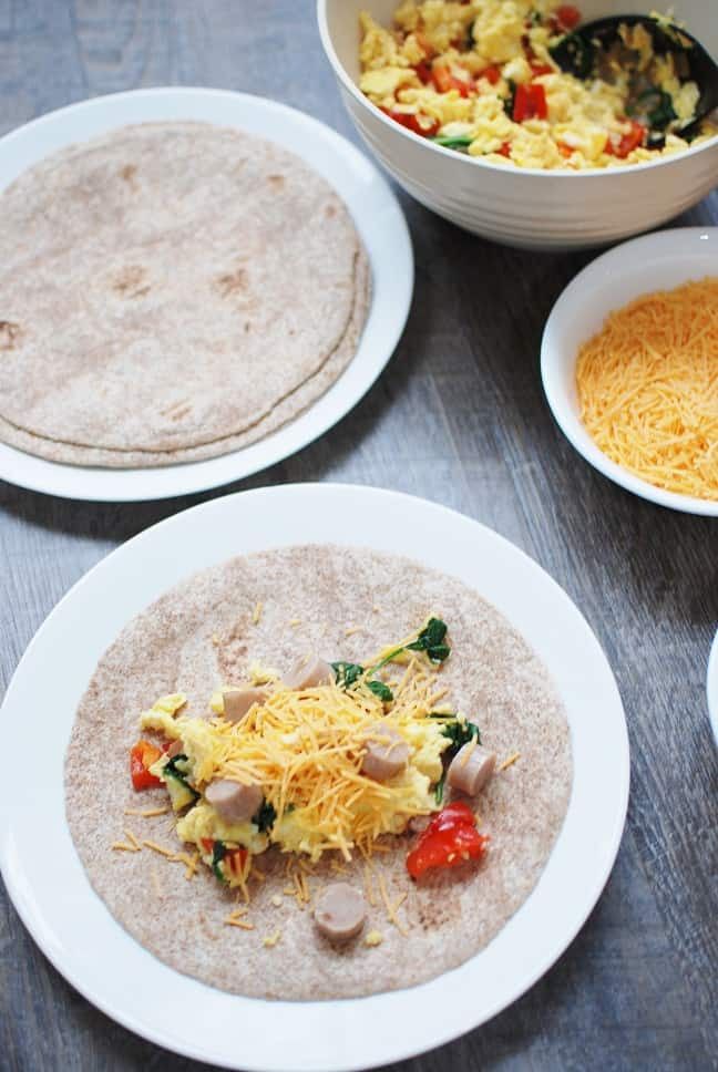 Healthy Breakfast Burrito Meal Prep  Make Ahead Breakfast Burritos Easy Cheap & Healthy