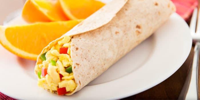 Healthy Breakfast Burrito Recipe  Egg White Breakfast Burrito