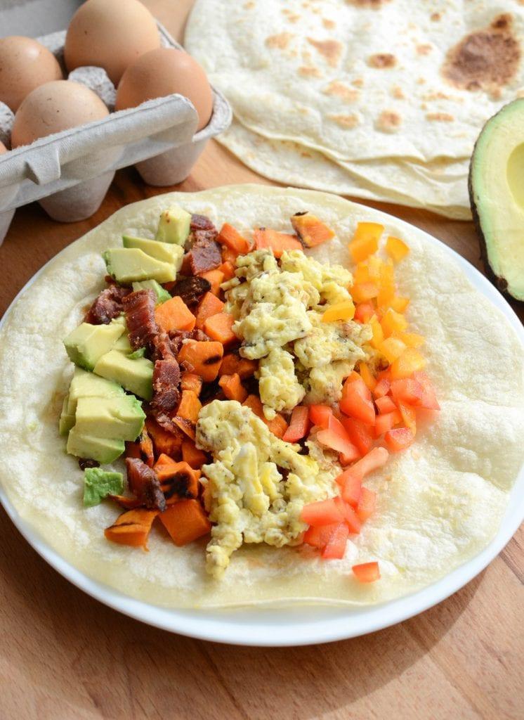 Healthy Breakfast Burrito Recipe  Healthy Roasted Sweet Potato Breakfast Burritos Bless