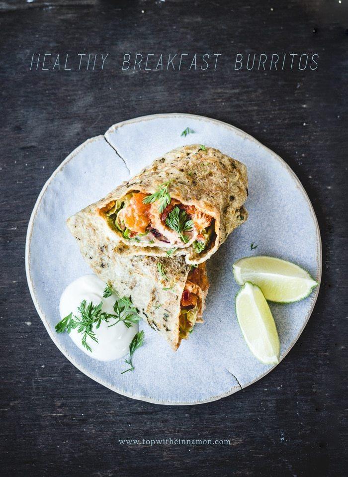 Healthy Breakfast Burrito  Healthy Breakfast Burritos make ahead how to make high