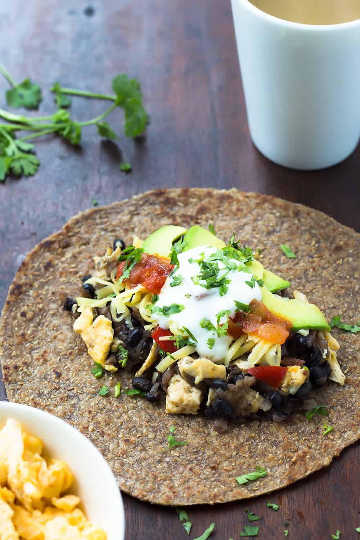 Healthy Breakfast Burrito  Black Bean Breakfast Burrito Nourish Cookbook Review