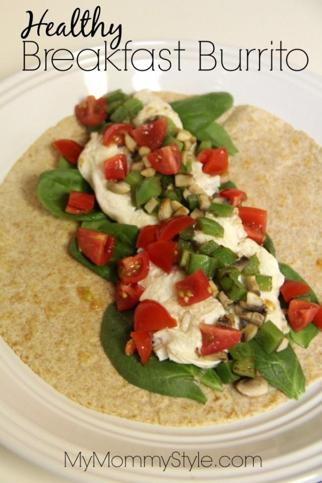 Healthy Breakfast Burritos  Healthy Breakfast Burrito My Mommy Style
