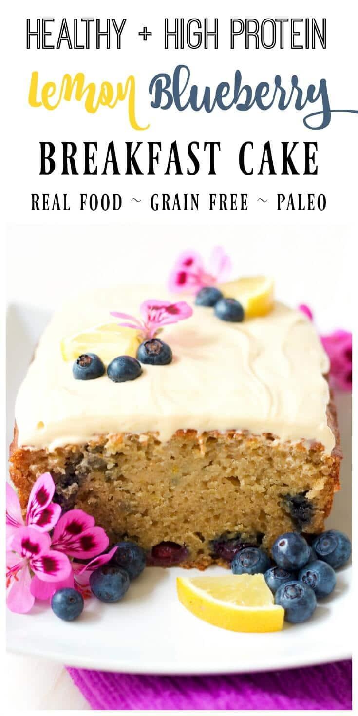 Healthy Breakfast Cake  Healthy Lemon Blueberry Breakfast Cake