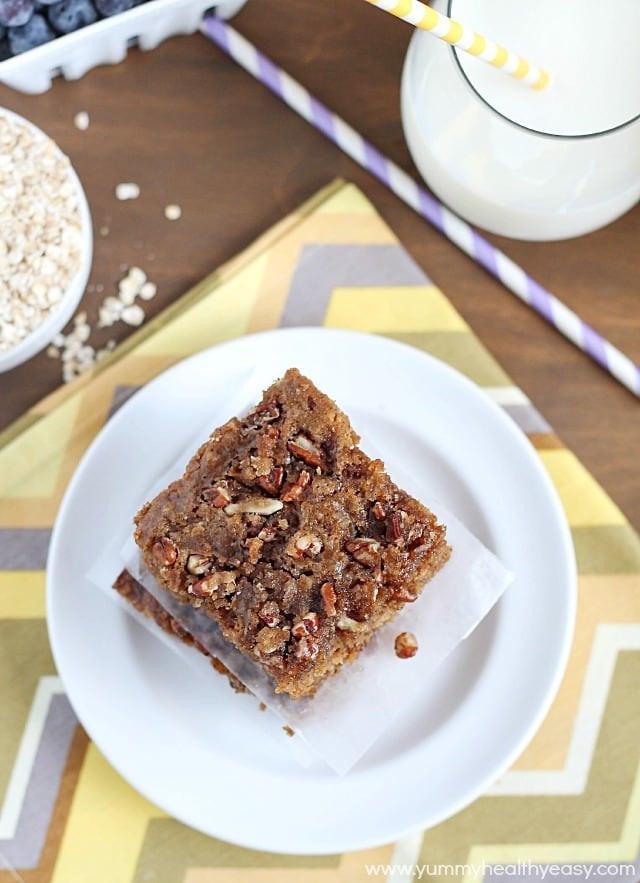 Healthy Breakfast Cake  Oatmeal Coffee Cake Yummy Healthy Easy