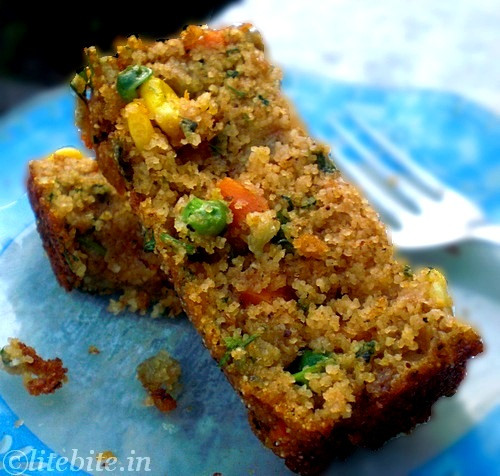 Healthy Breakfast Cake  Lite Bite Wholewheat & Veggie Savory Cake A Healthy