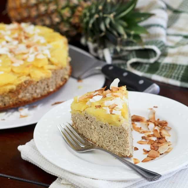 Healthy Breakfast Cake  Upside Down Pineapple [Breakfast] Cake • The Healthy Foo