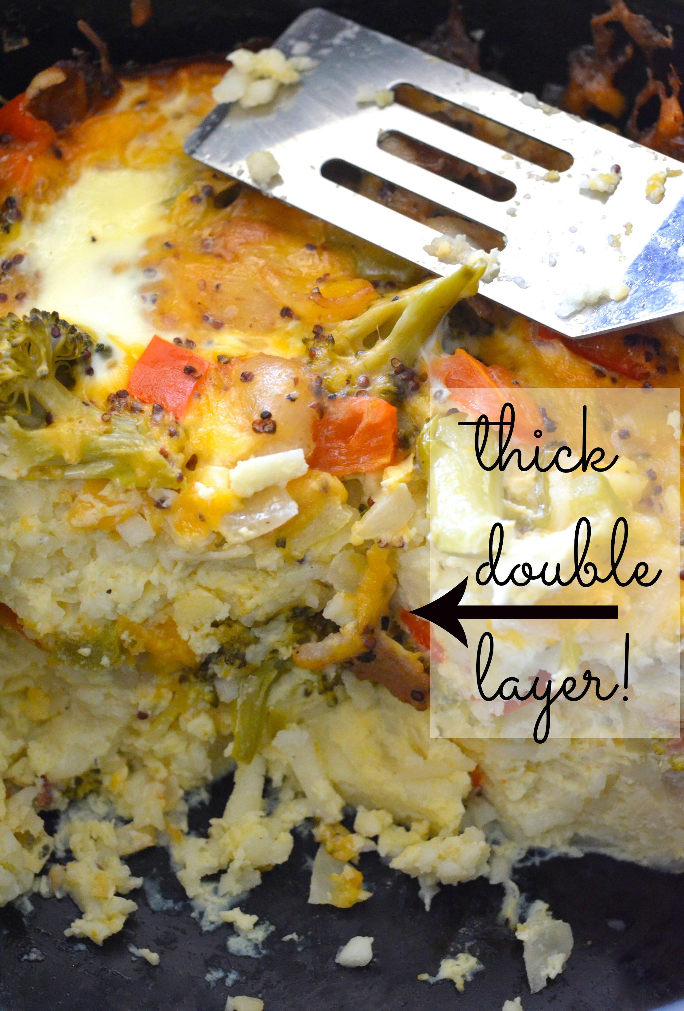 Healthy Breakfast Casserole Crockpot  Healthy Crockpot Breakfast Casserole Apple of My Eye