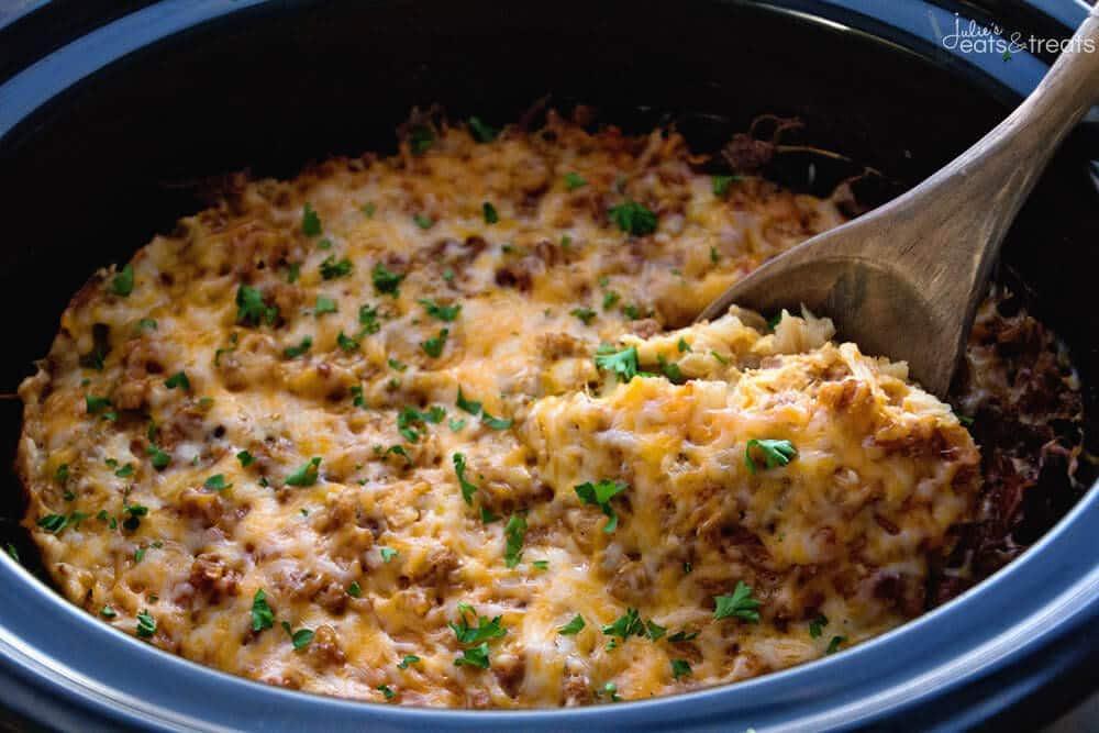 Healthy Breakfast Casserole Crockpot  Crockpot Breakfast Casserole With Turkey Julie s Eats