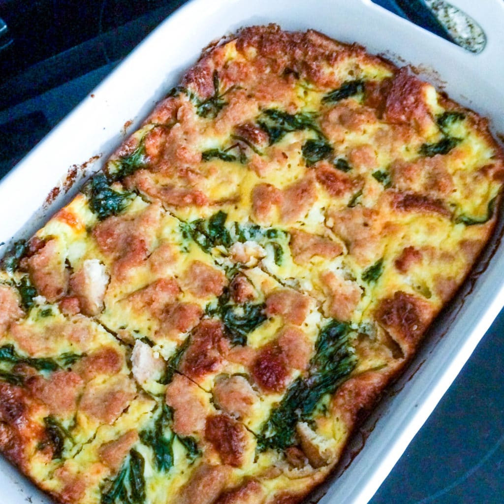 Healthy Breakfast Casserole With Sausage  Healthy Breakfast Sausage Casserole Hungry Hobby