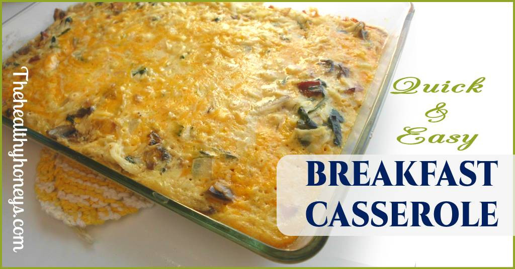 Healthy Breakfast Casserole With Sausage  Healthy Breakfast Casserole with Sausage The Healthy Honeys
