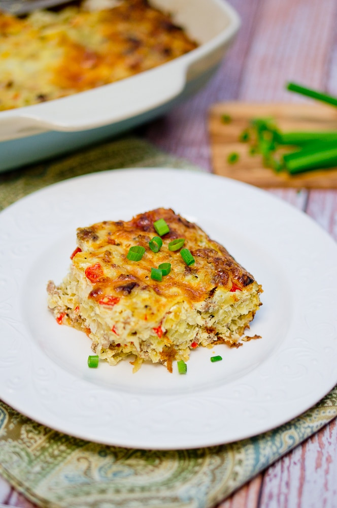 Healthy Breakfast Casserole With Sausage  Breakfast Hash Brown and Sausage Casserole