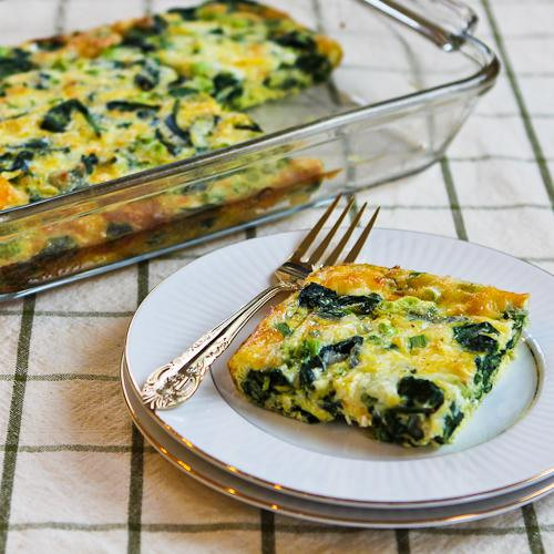Healthy Breakfast Casserole With Spinach  Spinach Mozzarella Egg Bake