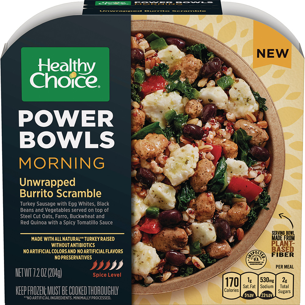 Healthy Breakfast Choice  Healthy Choice shakes up breakfast with morning power bowls