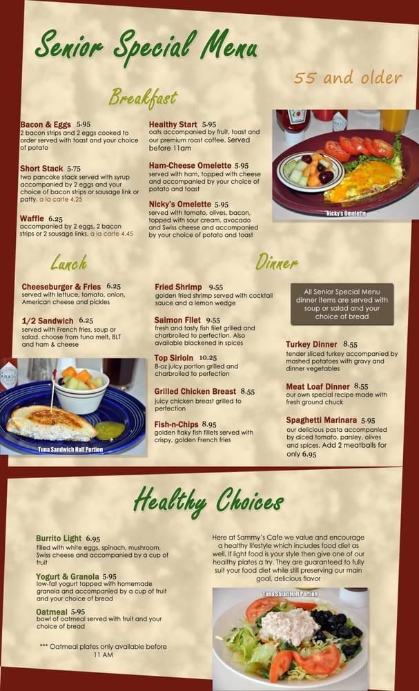 Healthy Breakfast Choice  Senior Special Menu breakfast lunch & dinner Healthy