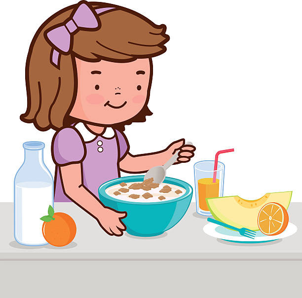 Healthy Breakfast Clipart  Cereal clipart healthy breakfast Pencil and in color