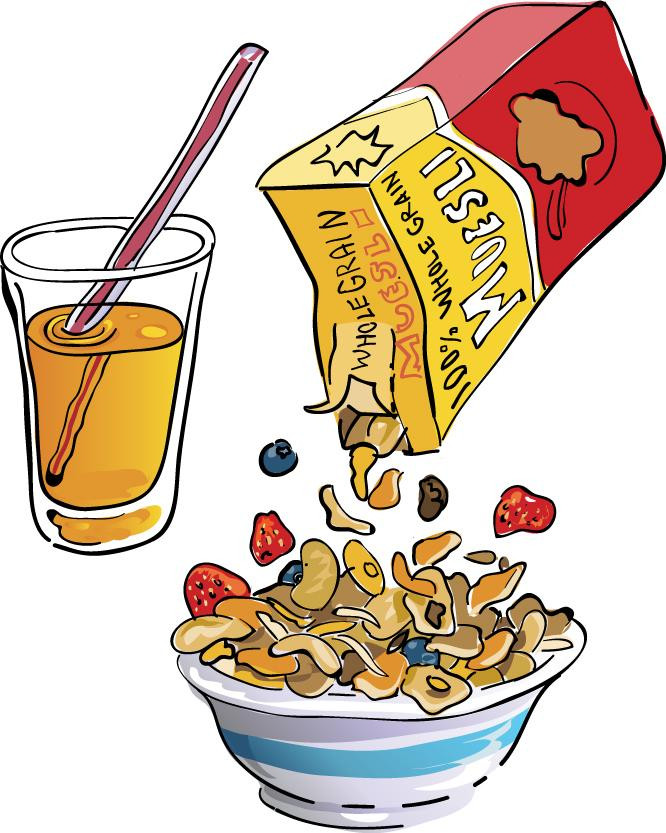 Healthy Breakfast Clipart  View breakfast 2 cereal OJ Clipart Free Nutrition