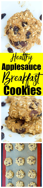 Healthy Breakfast Cookie Recipes  Applesauce Breakfast Cookies Happy Healthy Mama