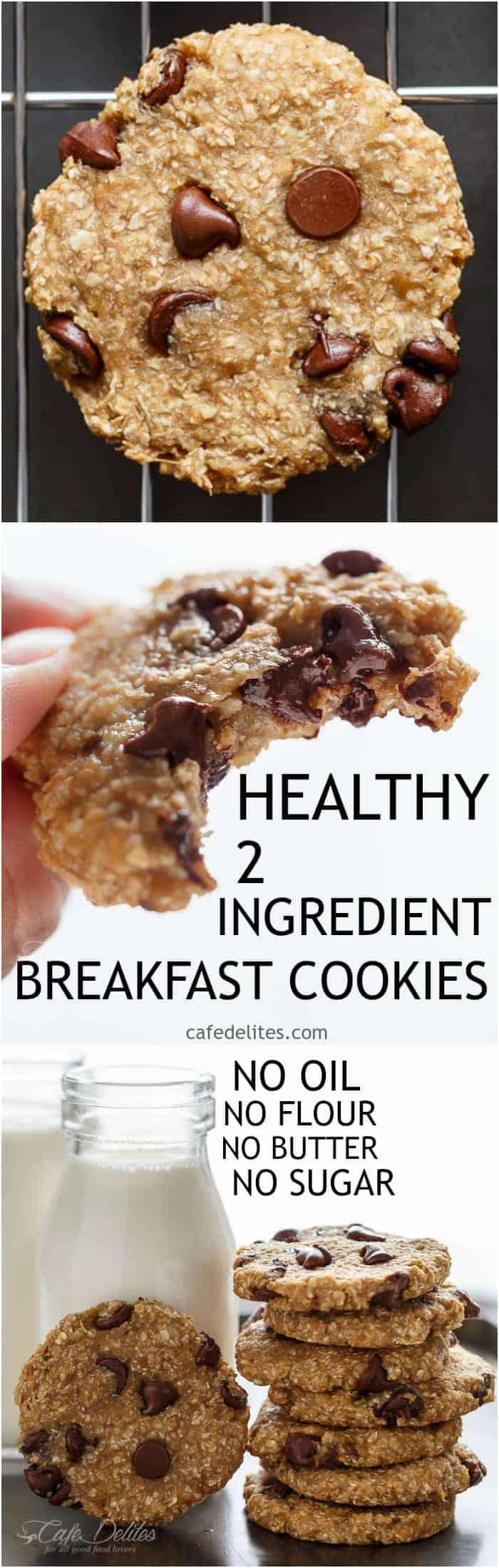 Healthy Breakfast Cookies  Healthy 2 Ingre nt Breakfast Cookies Cafe Delites