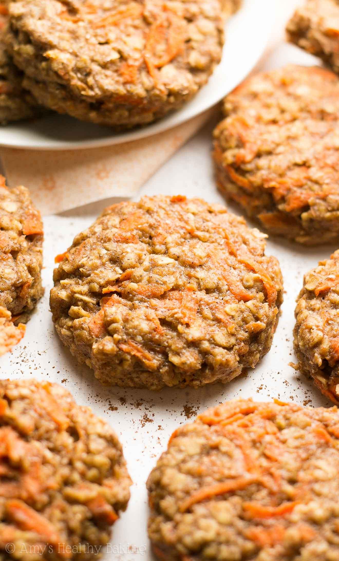 Healthy Breakfast Cookies  Healthy Carrot Cake Oatmeal Breakfast Cookies