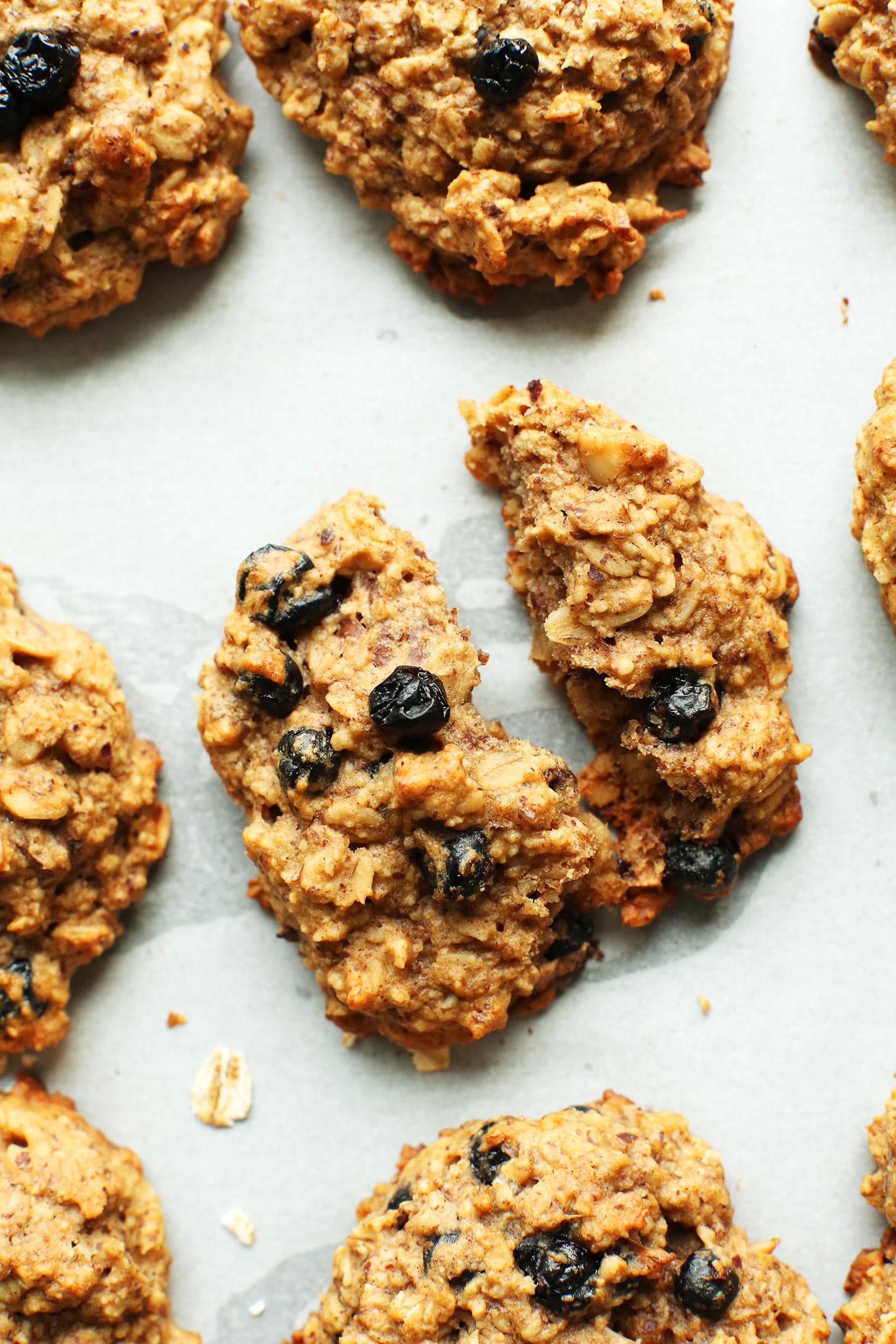 Healthy Breakfast Cookies  Blueberry Muffin Breakfast Cookies V GF