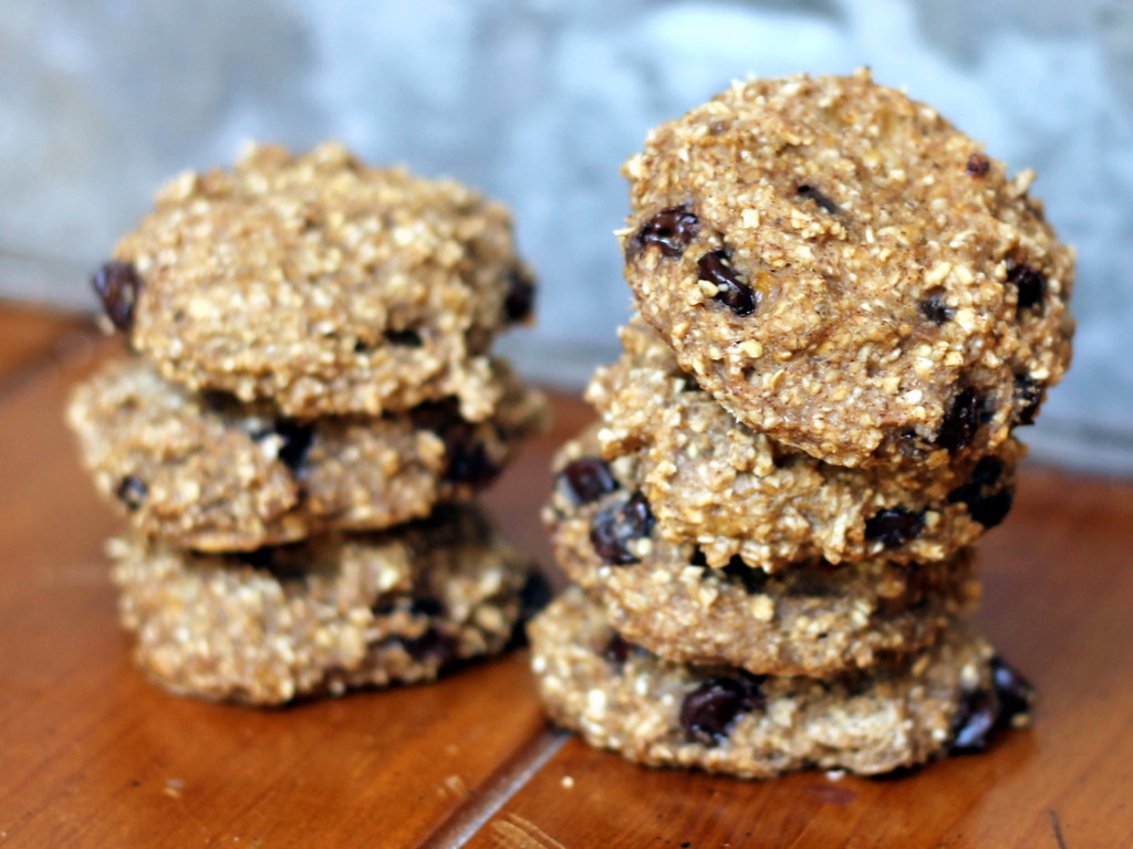 Healthy Breakfast Cookies  Two Ingre nt Banana Oatmeal Cookies