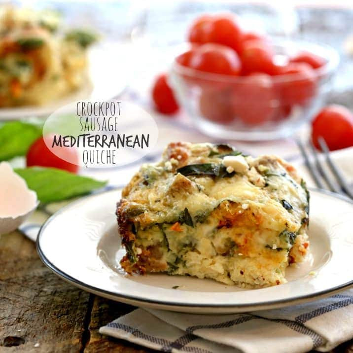 Healthy Breakfast Crockpot Recipes  Crockpot Healthy Sausage Mediterranean Quiche The Cookie