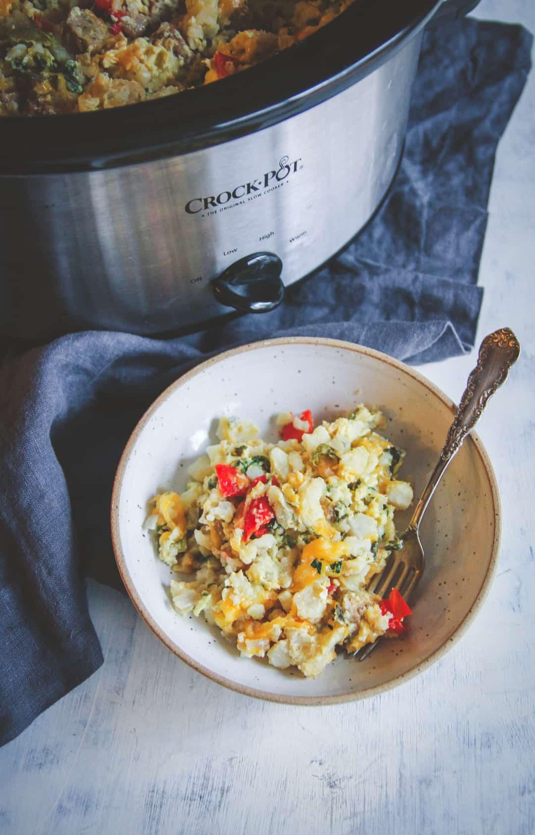 Healthy Breakfast Crockpot Recipes  slow cooker breakfast casserole healthy