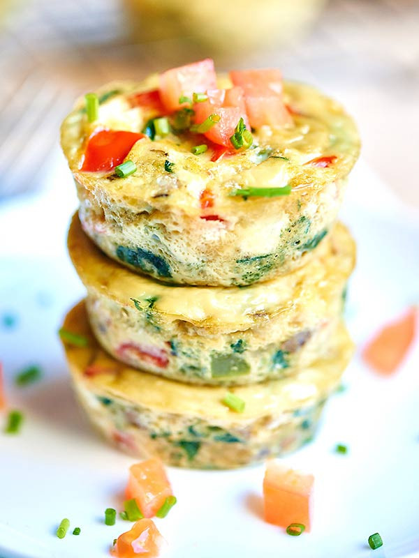 Healthy Breakfast Cups  Healthy Egg Muffin Cups ly 50 Calories