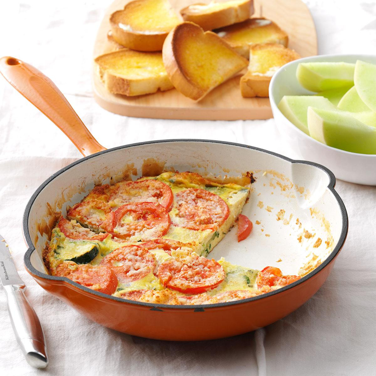Healthy Breakfast Dallas  Italian Garden Frittata Recipe