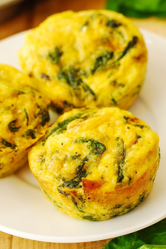 Healthy Breakfast Egg Muffins  healthy breakfast egg muffins with spinach